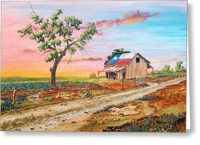 Texas Rockin Wildflowers Greeting Card by Michael Dillon