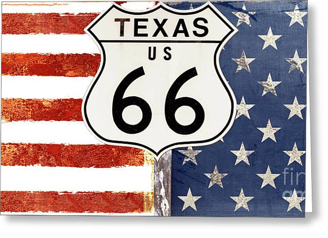 Texas Route 66 Greeting Card by Mindy Sommers