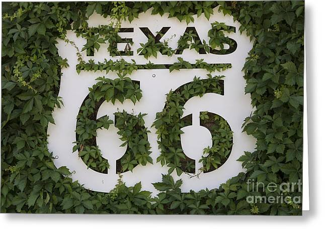 Texas Route 66 Sign Greeting Card by Mindy Sommers