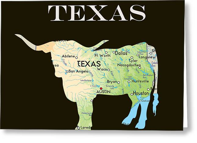 Texas Greeting Card by Art Spectrum
