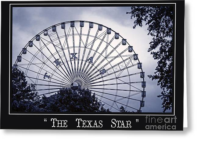 Texas Star In Blue Greeting Card