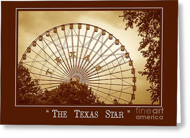 Texas Star In Gold Greeting Card
