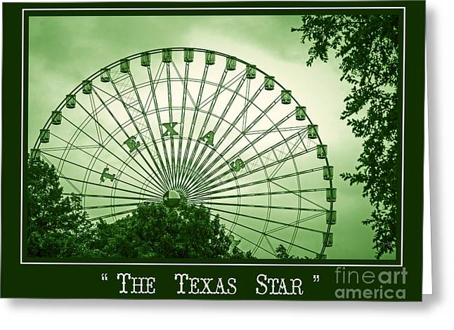 Texas Star In Green Greeting Card