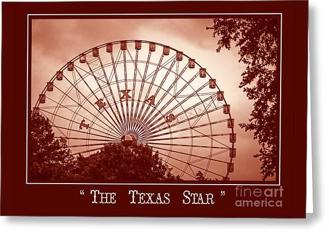 Texas Star In Orange Greeting Card