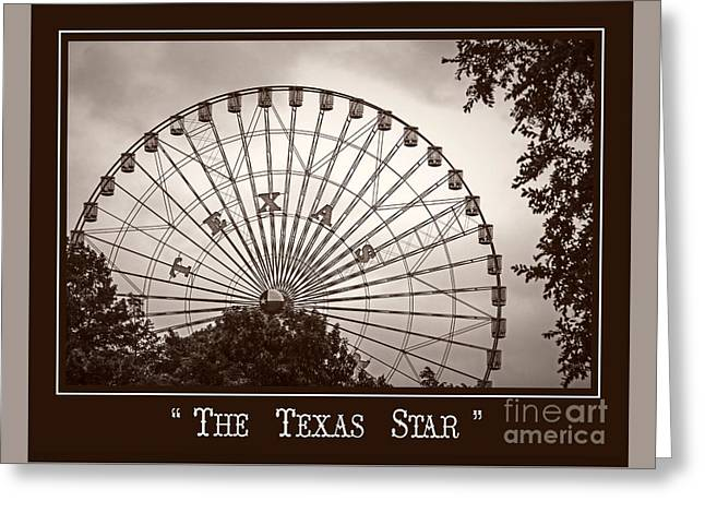 Texas Star In Sepia Greeting Card