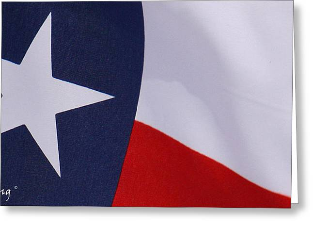 Texas Star Greeting Card by Roena King