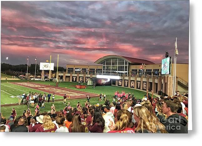 Texas State Football Stadium  Greeting Card by Gary Ray