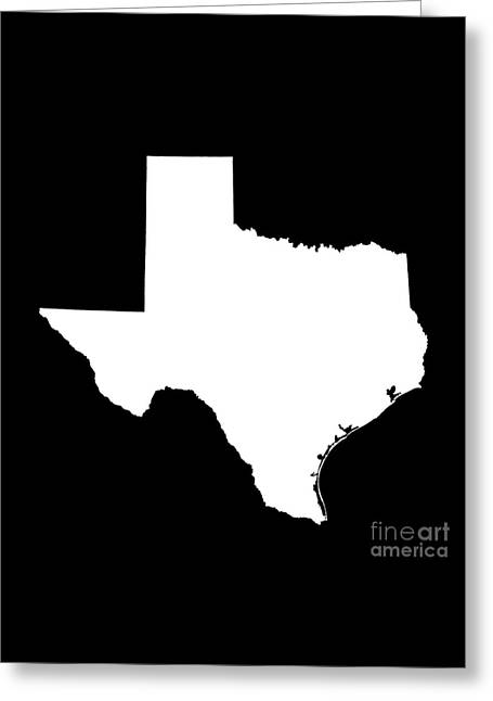 Texas State Outline Greeting Card by Bruce Stanfield
