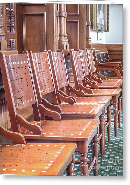 Texas Statehouse Chairs Greeting Card
