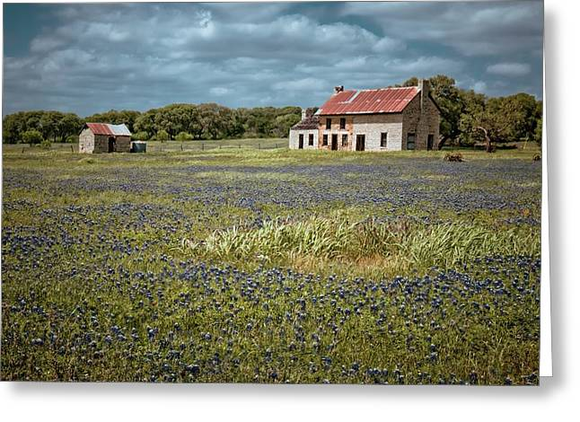Greeting Card featuring the photograph Texas Stone House by Linda Unger
