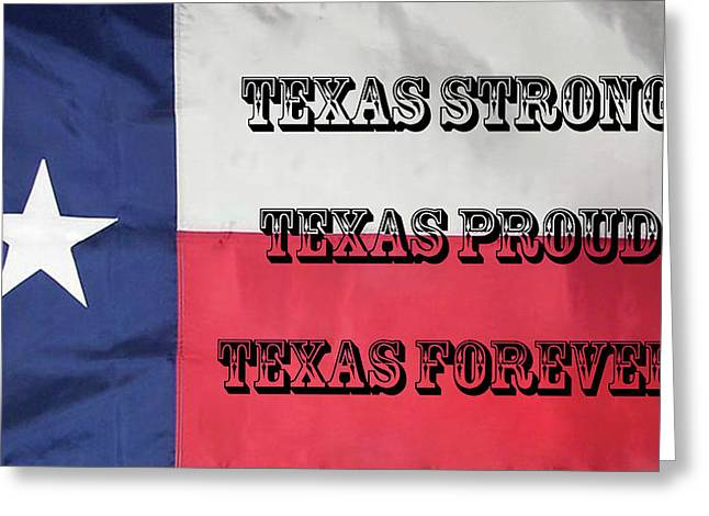 Texas Strong Greeting Card