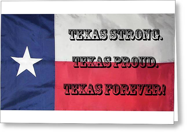 Greeting Card featuring the digital art Texas Strong by Joe Paul