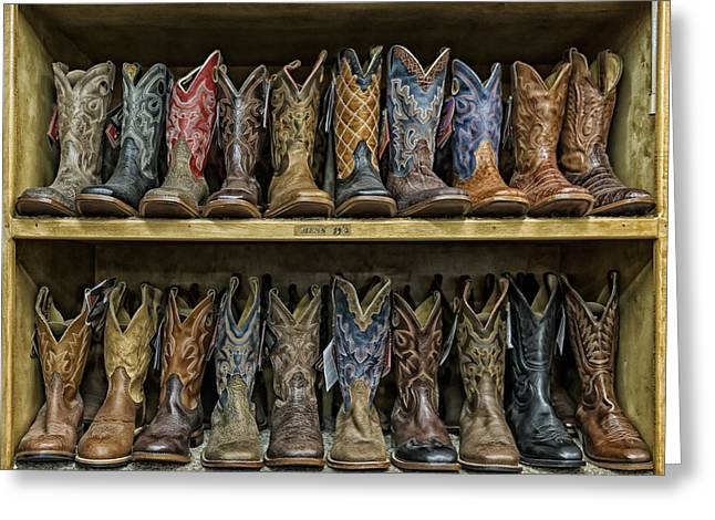 Texas Style Cowboy Boots Greeting Card