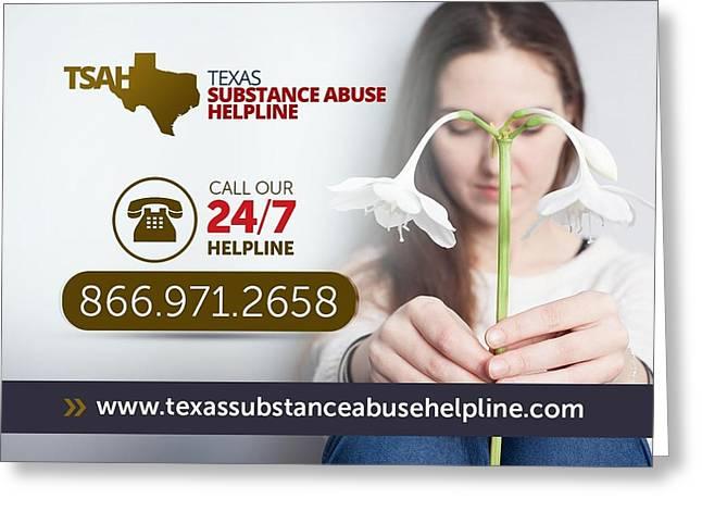 Texas Substance Abuse Helpline Greeting Card