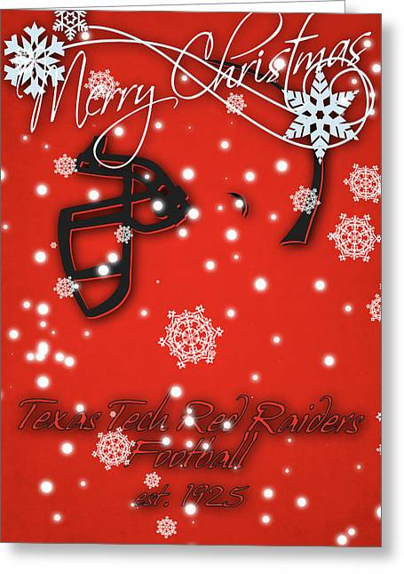 Texas Tech Red Raiders Christmas Card Greeting Card by Joe Hamilton