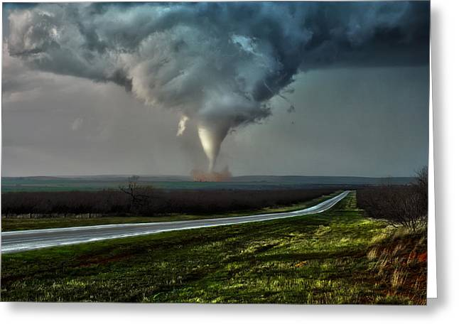 Texas Twister Greeting Card by James Menzies