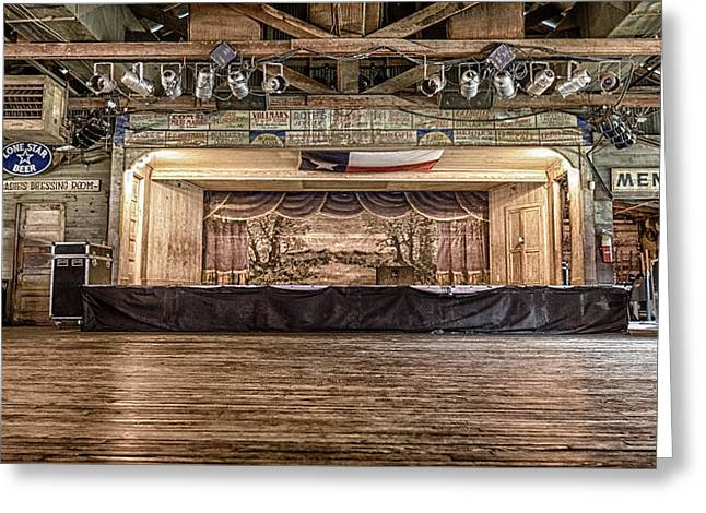 Texas Two Steppin At Gruene Hall Greeting Card