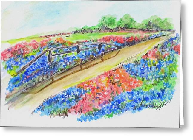 Texas Wild Flowers Greeting Card