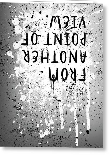 Text Art From Another Point Of View - Splashes Greeting Card