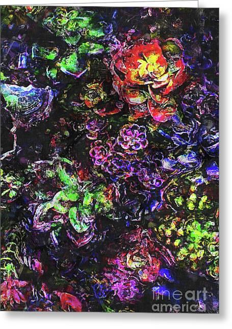 Textural Garden Plants Greeting Card