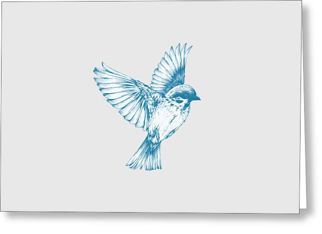 Textured Bird With Changeable Background Color Greeting Card by Sebastien Coell