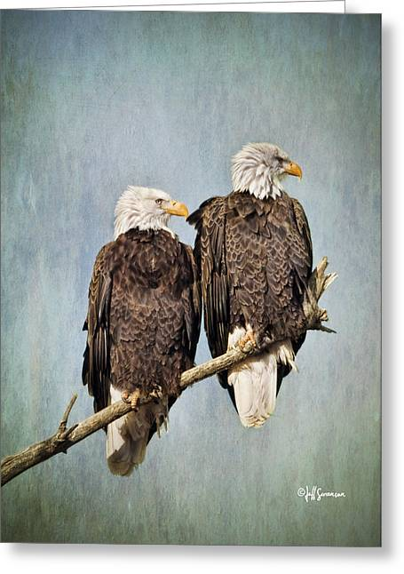 Textured Eagles Greeting Card