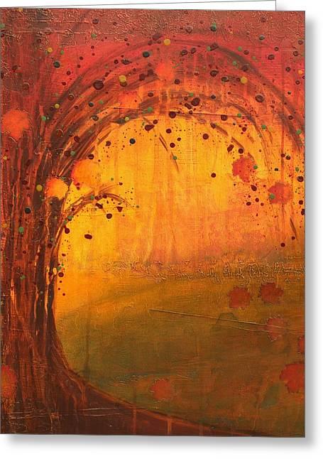 Textured Fall - Tree Series Greeting Card