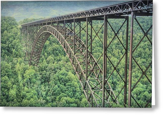 Textured New River Gorge Bridge Greeting Card by Dan Sproul