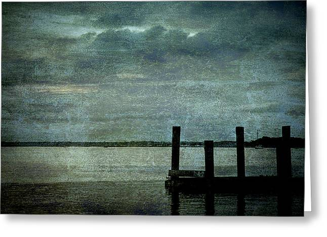 Textured Sunset Greeting Card by Dave Bosse