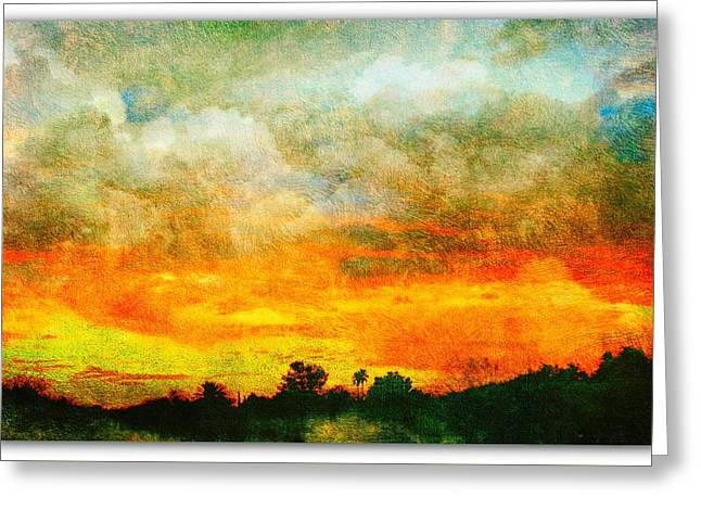 Textured Sunset Greeting Card