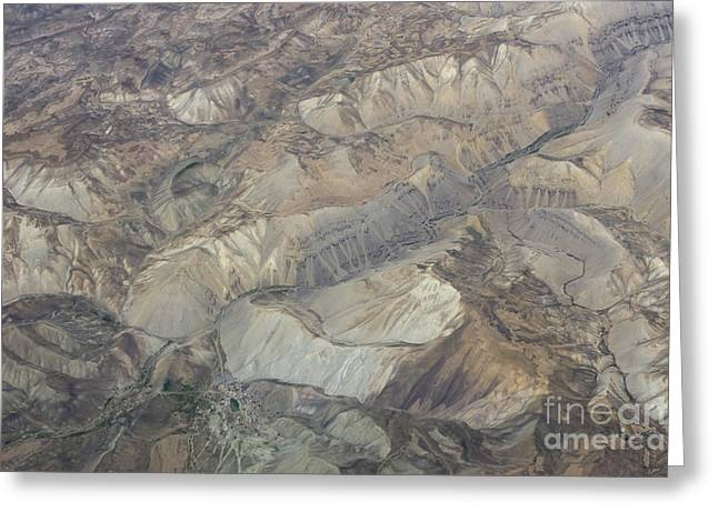 Textured Valleys Greeting Card by Tim Grams