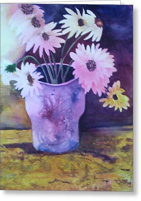 Textured Vase Greeting Card