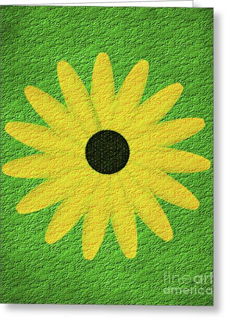 Textured Yellow Daisy Greeting Card