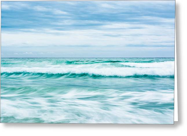 Textures In The Waves Greeting Card by Shelby  Young