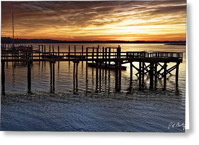 Textures Of Sunset Greeting Card by Phill Doherty