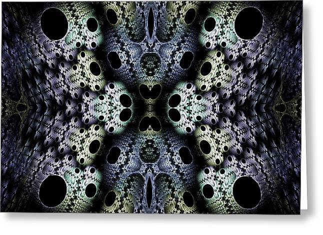 Texturized  Greeting Card by Lea Wiggins