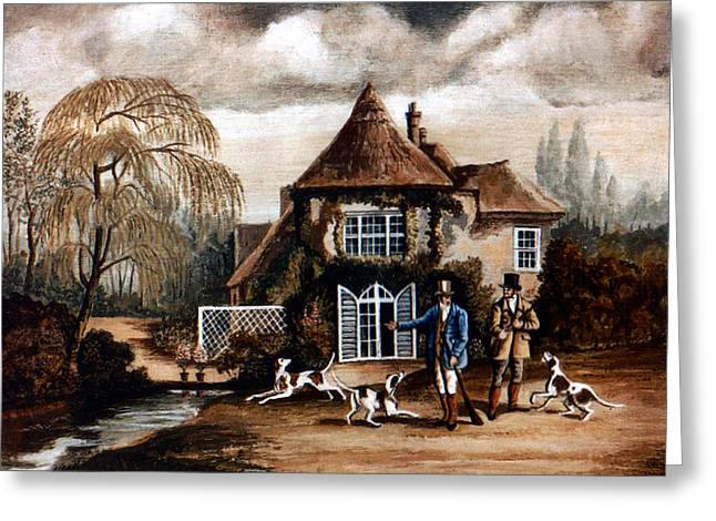 Th Hunting Lodge. Greeting Card by James Richardson