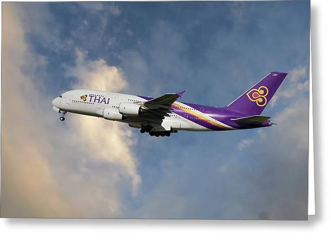 Thai Airways Airbus A380-841 Greeting Card