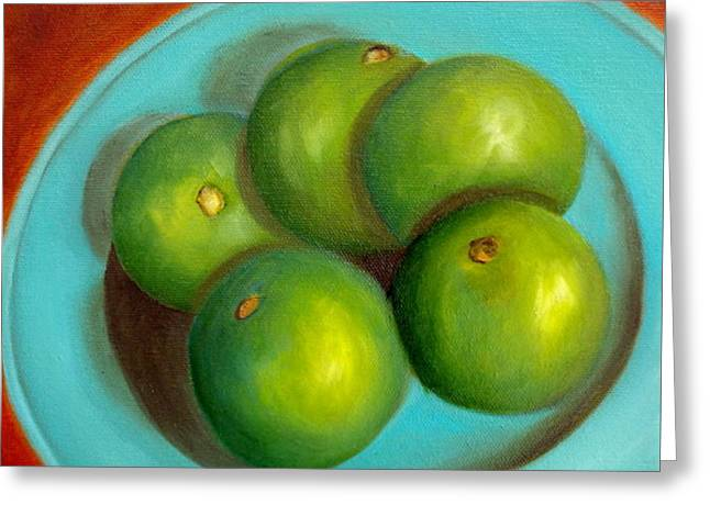 Greeting Card featuring the painting Thai Limes - Sold by Susan Dehlinger