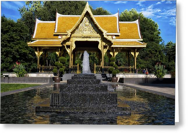 Thai Pavilion - Madison - Wisconsin Greeting Card by Steven Ralser