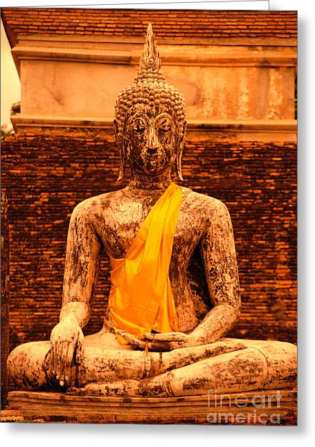 Thailand Buddha Statue Greeting Card by Kyle Rothenborg - Printscapes