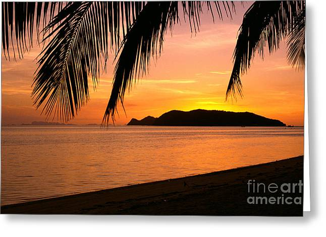 Thailand, Koh Pagan Greeting Card by William Waterfall - Printscapes