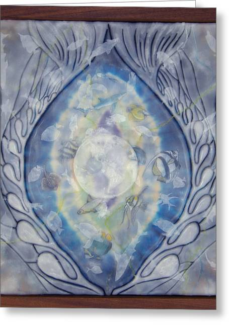 Thalassa Goddess Of The Sea Greeting Card by Elizabeth Comay