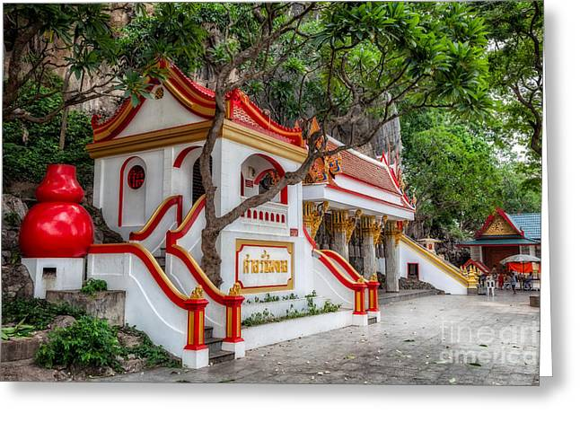 Tham Khao Yoi Temple Greeting Card by Adrian Evans