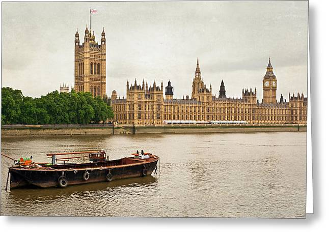 Greeting Card featuring the photograph Thames by Keith Armstrong
