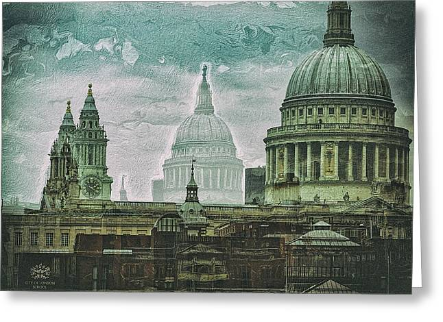 Thamesscape 2 -  Ghosts Of London Greeting Card