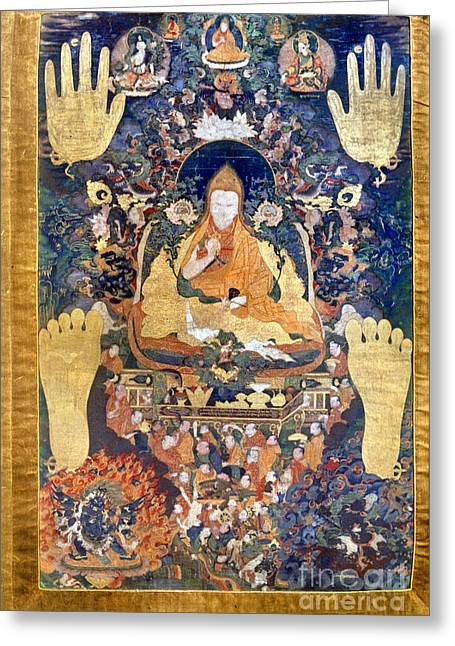 Thangka: Dalai Lama Greeting Card by Granger
