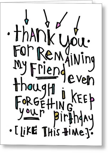 Thank You Birthday Greeting Card