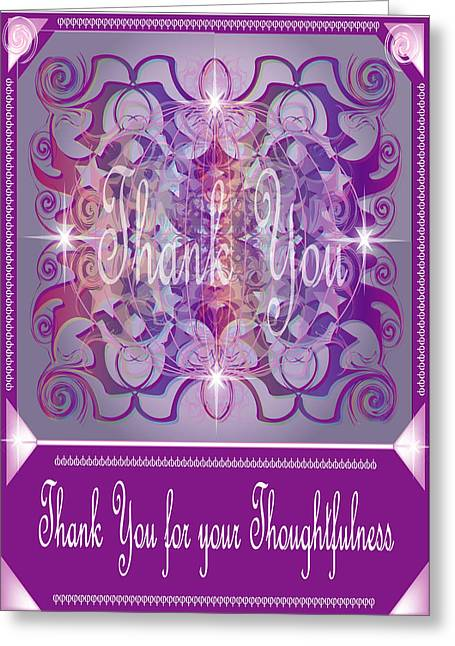 Thank You Card 1 Greeting Card by George Pasini