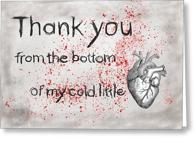 Thank You From My Heart Greeting Card